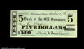 Obsoletes By State:Virginia, Rectorstown Station - Bank of the Old Dominion $5 Jan. 17,...