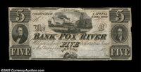 Depere, WI- The Bank of Fox River Hydraulic Co. $5 G6 Krause 6 As nice an example as we've ever seen from this tough ban...
