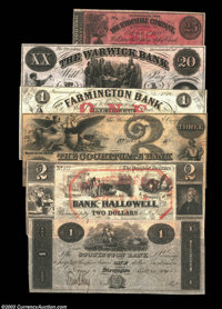 Six New England Issues from All Different States. Stonington, CT - Stonington Bank $1 Oct. 20, 1861 remainder AU Hallowe...