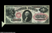 Fr. 27 $1 1878 Legal Tender, Superb Gem Crisp Uncirculated. Extra tab of paper at lower left. This incredible nice early...