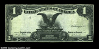 Fr. 233 $1 1899 Silver Certificate, Very Fine. Missing the third printing. The note has clearly been pressed and the mar...