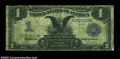 Error Notes:Large Size Inverts, Fr. 229 $1 1899 Inverted Reverse Silver Certificate, Very ...