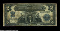 Error Notes:Large Size Inverts, Fr. 255 $2 1899 Silver Certificate Very Good-Fine.