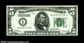 Error Notes:Inverted Reverses, Fr. 1951-A $5 1928A Inverted Reverse Federal Reserve Note, ...
