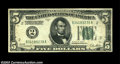 Error Notes:Inverted Reverses, Fr. 1951-B $5 1928A Inverted Reverse Federal Reserve Note, ...