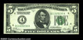Error Notes:Inverted Reverses, Fr. 1951-D $5 1928A Inverted Reverse Federal Reserve Note, ...