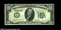 Error Notes:Inverted Reverses, Fr. 2001-G $10 1928A Inverted Reverse Federal Reserve Note, ...
