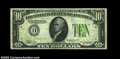 Error Notes:Inverted Reverses, Fr. 2004-D $10 1934 Inverted Reverse Light Green Seal ...