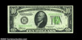 Error Notes:Inverted Reverses, Fr. 2005-B $10 1934 Inverted Reverse Dark Green Seal Federal ...