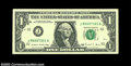 Error Notes:Blank Reverse (<100%), Fr. 1914-J $1 1988 Federal Reserve Notes, Extremely Fine-... (4notes)
