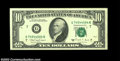 Error Notes:Blank Reverse (<100%), Fr. 2029-G $10 1988A Federal Reserve Note, Crisp ...
