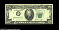 Error Notes:Blank Reverse (<100%), Fr. 2074-G $20 1981A Federal Reserve Notes, About ... (2 notes)