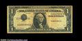 Error Notes:Inverted Third Printings, Fr. 1614 $1 1935E Silver Certificate, Extremely Fine, Aged.