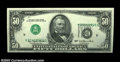 Error Notes:Inverted Third Printings, Fr. 2119-D $50 1977 Federal Reserve Note, About Uncirculated....