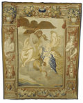 Rugs & Textiles:Tapestries, Flemish Tapestry. Brussels. 17th Century. Silk, wool. 10.8 feet x13.3 feet. Zeus is the mighty bearded man seated on hi...