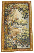 Rugs & Textiles:Tapestries, Aubusson Tapestry. 19th Century. Silk, wool. 8 feet x 9 feet. Wovenwith beautiful color....