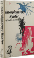 Books:First Editions, Arthur K. Barnes: Interplanetary Hunter. (New York: GnomePress, 1956), first edition, 231 pages, jacket design by Ed Em...