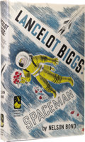 Books:First Editions, Nelson Bond: Lancelot Biggs: Spaceman. (Garden City, NewYork: Doubleday & Company, Inc., 1950), first edition, 224page...