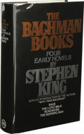 Books:First Editions, Stephen King: The Bachman Books. (New York: New AmericanLibrary, 1985), first omnibus edition, 692 pages, black quarter...