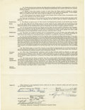 Autographs:Others, 1949 Yogi Berra Signed Player's Contract. An integral piece of thefoundation upon which would be built a run of five conse...
