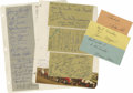 Autographs:Others, 1948-51 Indianapolis 500 Drivers Signed Album Sheets. Fantasticcollection will get vintage motorsports enthusiasts' hearts...