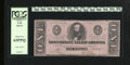Confederate Notes:1862 Issues, T55 $1 1862. This well margined Clay Ace has been graded Choice New63PPQ by PCGS....