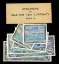 Specimens of Military Japan Supplemental B Yen Currency Schwan-Boling 269. Supplemental B Yen was used in the Japanese h...