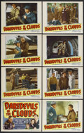 """Movie Posters:Drama, Daredevils of the Clouds (Republic, 1948). Lobby Card Set of 8 (11"""" X 14""""). Aerial Drama. Starring Robert Livingston, Mae Cl... (Total: 8 Items)"""