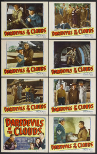 """Daredevils of the Clouds (Republic, 1948). Lobby Card Set of 8 (11"""" X 14""""). Aerial Drama. Starring Robert Livi..."""