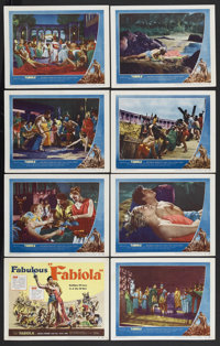 "Fabiola (United Artists, 1951). Lobby Card Set of 8 (11"" X 14""). Romantic Epic. Starring Michele Morgan, Henri..."