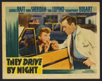 """They Drive by Night (Warner Brothers, 1940). Lobby Card (11"""" X 14""""). Thriller. Starring George Raft, Ann Sheri..."""