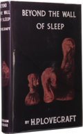 Books:First Editions, H.P. Lovecraft: Beyond the Wall of Sleep with ReproductionDust Jacket. (Sauk City: Arkham House, 1943), first editi...