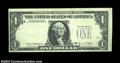 Error Notes:Third Printing on Reverse, Fr. 1907-L $1 1969D Federal Reserve Note, Crisp Uncirculated....