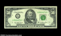 Error Notes:Mismatched Prefix Letters, Fr. 2119-A* $50 1977 Federal Reserve Note, About ...
