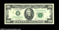 Error Notes:Doubled Third Printing, Fr. 2077-B $20 1990 Federal Reserve Note, Very Fine. One ...