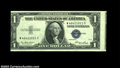 Error Notes:Skewed Reverse Printing, Fr. 1614 $1 1935E Silver Certificate, Gem Crisp Uncirculated....