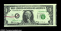 Error Notes:Skewed Reverse Printing, Fr. 1903-J $1 1969 Federal Reserve Note, Crisp Uncirculated.
