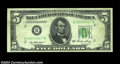 Error Notes:Skewed Reverse Printing, Fr. 1962-B $5 1950A Federal Reserve Note, Extremely Fine. ...