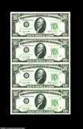 Error Notes:Skewed Reverse Printing, Fr. 2010-E $10 1950 Federal Reserve Notes. Choice Crisp ...