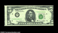 Error Notes:Skewed Reverse Printing, Fr. 1972-F $5 1969C Federal Reserve Note, About Uncirculated....