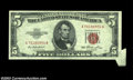 Error Notes:Foldovers, Fr. 1532 $5 1953 Legal Tender, Choice Crisp Uncirculated. ...