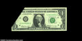 Error Notes:Foldovers, Fr. 1905-H $1 1969B Federal Reserve Note, About Uncirculated....