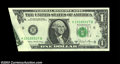 Error Notes:Foldovers, Fr. 1912-H $1 1981A Federal Reserve Note. Choice Crisp ...