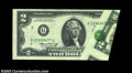 Error Notes:Foldovers, Fr. 1935-G $2 1976 Federal Reserve Note, Gem Crisp ...