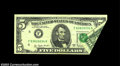 Error Notes:Foldovers, Fr. 1975-F $5 1977A Federal Reserve Note. Very Fine-...
