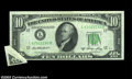 Error Notes:Foldovers, Fr. 2011-L $10 1950A Federal Reserve Note, About ...