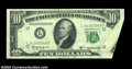 Error Notes:Foldovers, Fr. 2014-L $10 1950D Federal Reserve Note. About ...