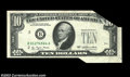 Error Notes:Foldovers, 2023-B $10 1977 Federal Reserve Note. Gem Crisp Uncirculated.