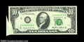 Error Notes:Foldovers, Fr. 2027-C $10 1985 Federal Reserve Note, Choice Crisp ...