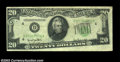 Error Notes:Foldovers, Fr. 2059-D $20 1950 Federal Reserve Note, Extremely Fine. ...